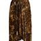Tursanne asymmetric-hem leopard-print velvet skirt