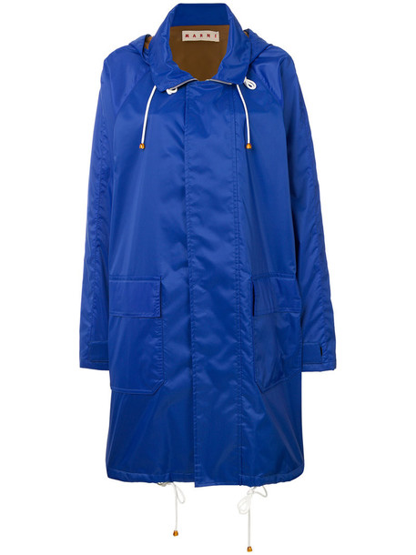 coat parka women blue