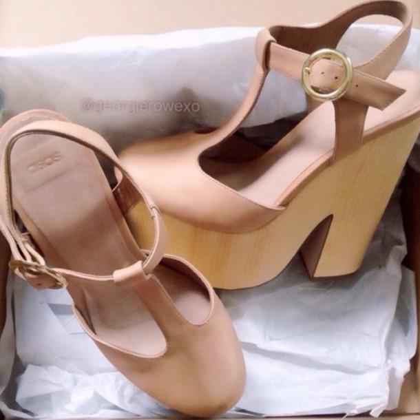 shoes nude heel cute pretty tan