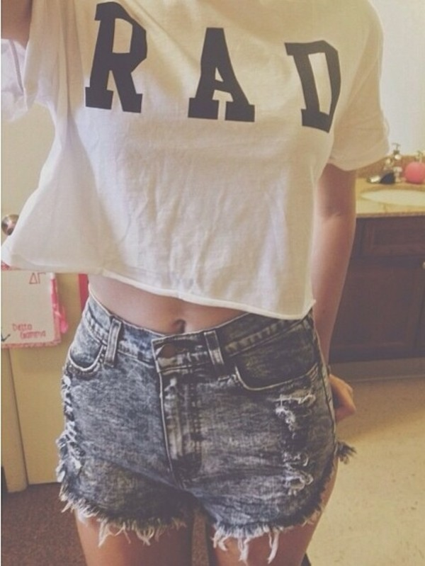 shirt rad white cute