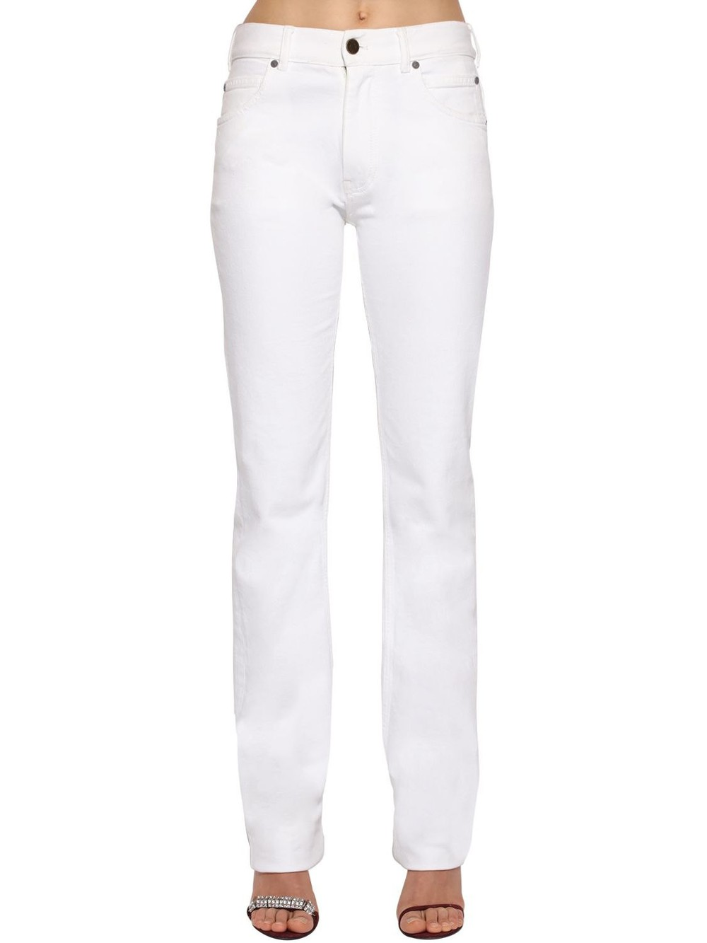 CALVIN KLEIN 205W39NYC Mid Rise Cotton Denim Jeans in white