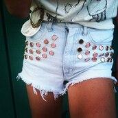 shorts,denim,high,waist,blue,light,girly,hot pants