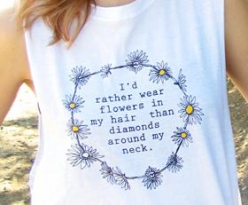 flowers in my hair (white shirt) | Always Again