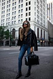 maria vizuete,mia mia mine,blogger,shoes,jacket,jeans,t-shirt,jewels,bag,top,sunglasses
