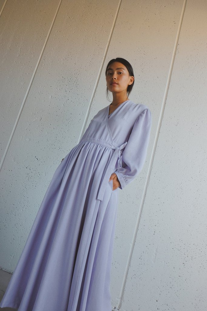 anita dress in lavender