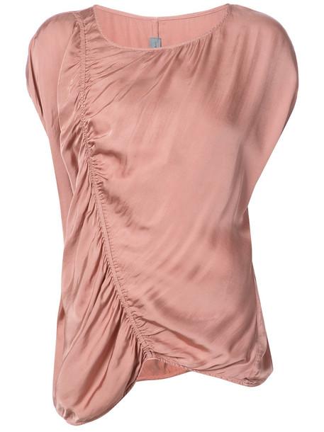 Raquel Allegra t-shirt shirt t-shirt women cotton purple pink top