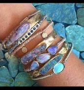 jewels,sapphire,bracelets,gold,tan,opal,jewelry,silver