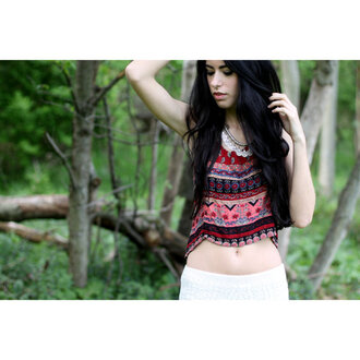 top boho tank boho gypsy gypsy tank crochet crochet shorts afghan necklace afghan crop tops tribal tank