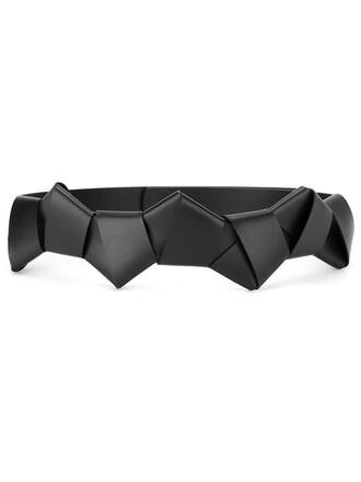 origami belt black