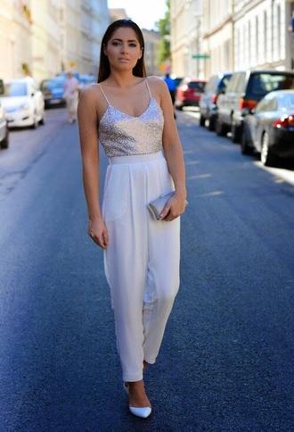 jumpsuit classy white