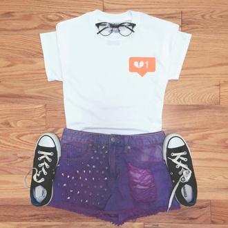 shirt cute love heart tees tee short imstagram fashion t-shirt
