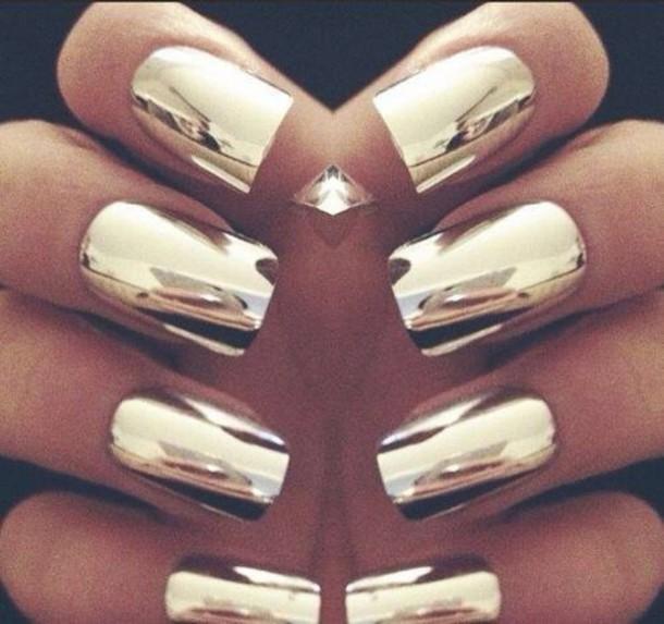nail polish gold nailpolish shiny nail polish