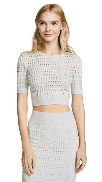 top short lace light grey heather grey