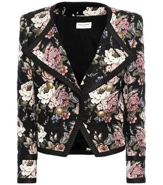 jacket cropped jacket cropped jacquard wool