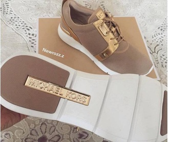 shoes michael kors michael kors shoes nude sneakers sneakers fashionable shoes amanda mesh kk beige tennis shoes gold nude