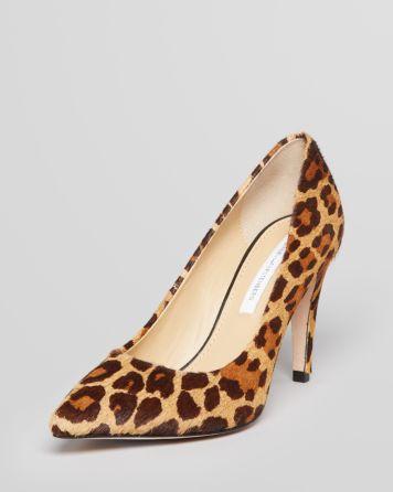 DIANE von FURSTENBERG Pointed Toe Pumps - Anette Leopard High Heel | Bloomingdale's