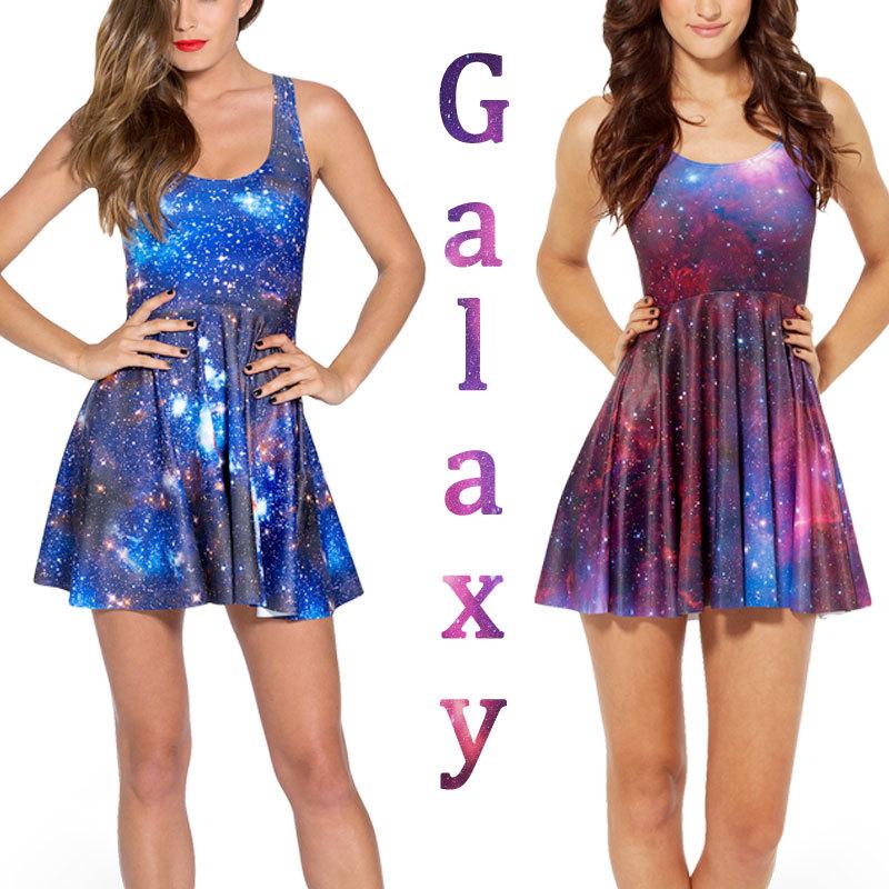 Galaxy Blue Dress Skater Dresses 2014 Summer Dress Black Milk Galaxy ...