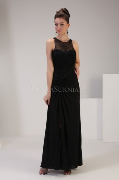 dress evening dress black dress gown