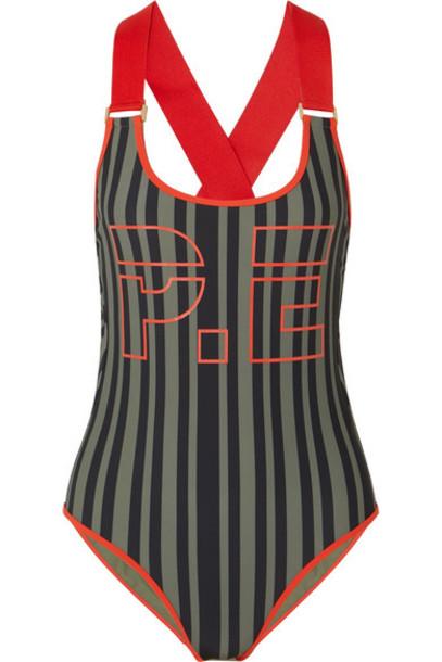 P.E Nation back black swimwear