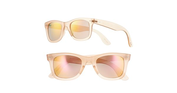 Women's LC Lauren Conrad Clear Retro Square Sunglasses
