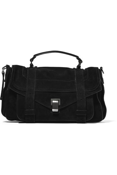 Proenza Schouler bag shoulder bag suede black