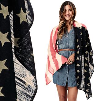 scarf 4thofjuly freedom scarf american flag american flag scarf