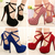 Aliexpress.com : Buy 14cm High heeled Sexy Women's Fashion Thin Heels Platform Round Toe Party Shoes Plus Size Black/Blue/Red/Grid Ladies Pumps on Anna's World. | Alibaba Group