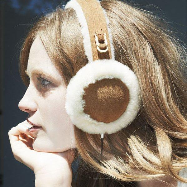 Leather & shearling tech earmuffs by ugg australia