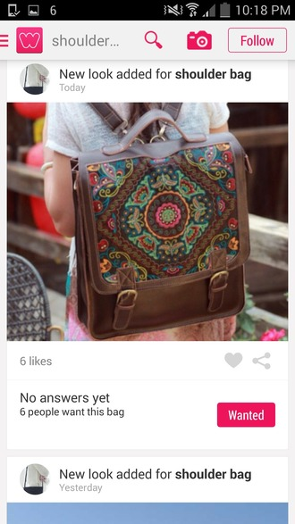 bag leather bag backpack rucksack boho style boho