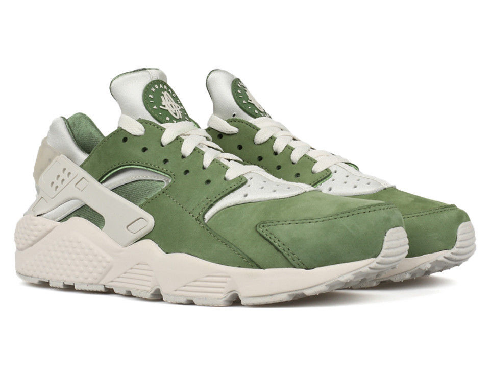 Buying New - Nike Air Huarache Run PRM LOW QS Tree Lime Green Bamboo Suede 704830-300