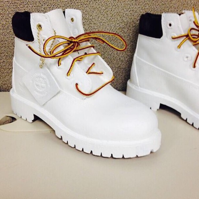 Shoes s gold white pajamas white timberlands white timbs white boots