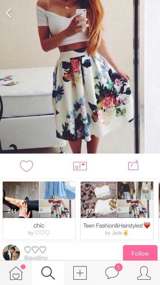 skirt wehearit nice summer floral