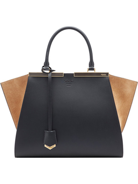 Fendi women bag tote bag leather black