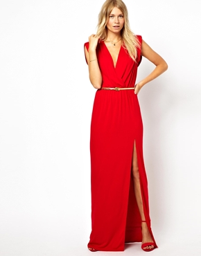 Love | Love Wrap Front Maxi Dress With Thigh Split at ASOS