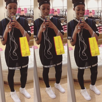 shirt dvmn oversized t-shirt tshirt dress tshirt. leggings nike shoes nike running shoes nike air style urban