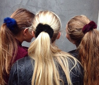 hair accessory fur fluffy cute black red blue streetwear streetstyle cool trendy