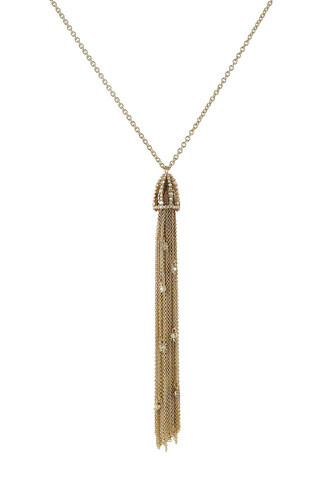chain necklace tassel necklace gold jewels