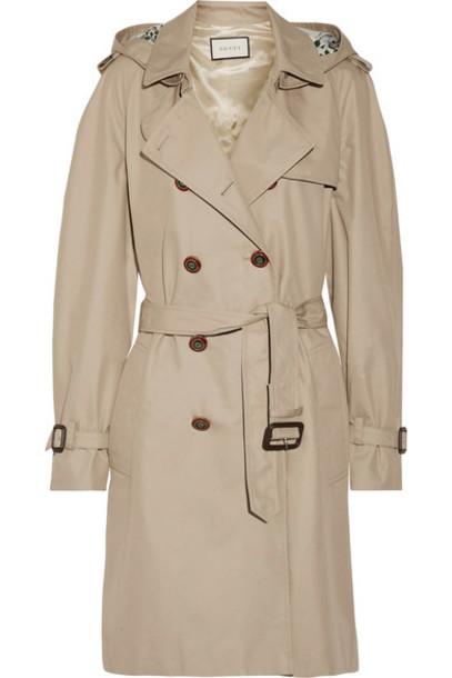 gucci coat trench coat cotton silk