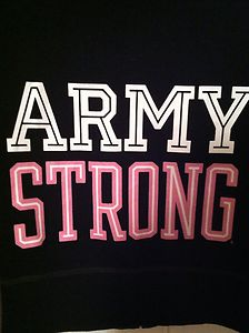 Victoria's secret pink army strong zip up hoodie sweatshirt medium