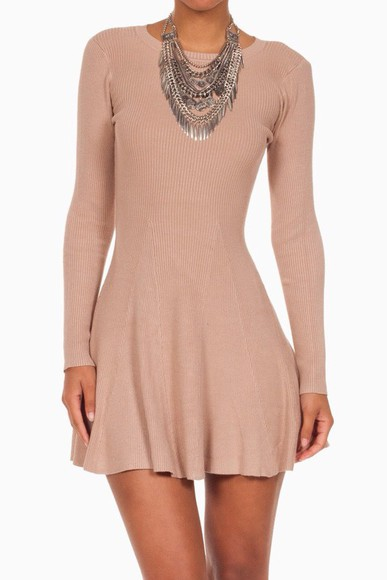 sweater dress long sleeve dress fall outfits fashion skater short dress