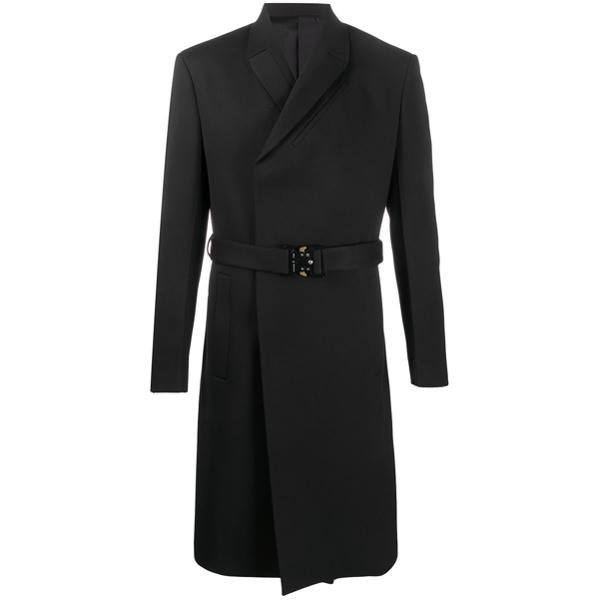 1017 ALYX 9SM double high buckled coat - Black