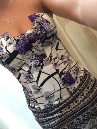 top corset lace up zip up