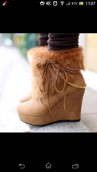low boots brown shoes boots shoes lace brown platform chain buckskin