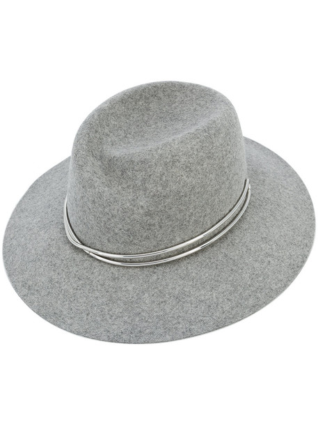 women fedora wool grey hat