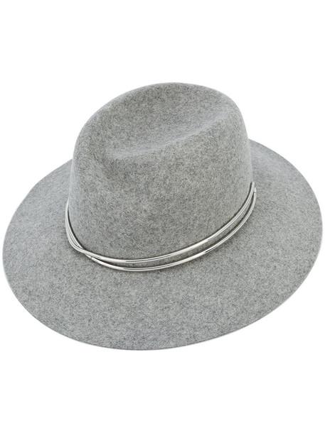 Rag & Bone women fedora wool grey hat