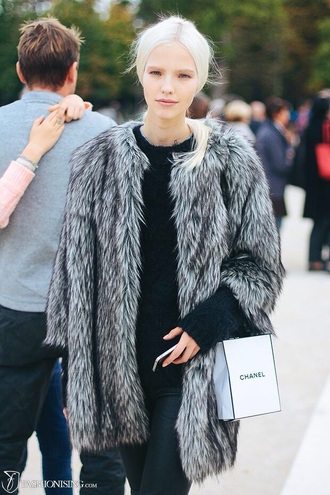 jacket style fur grey fur coat faux fur jacket