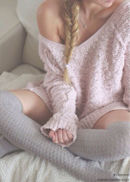 sweater fishtail shoes socks knee high socks jewels