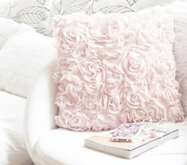 home accessory pillow rose blush pink decorative throw accent pillow