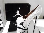 shoes,heels,white,black,dope,jordans,high heels,cute,cute high heels,peep toe,23,black and white,jordan heels,air jordan,jordan black and white rhinestone heels,white high heels,jordan,high,herls,nike air force,shiny heels,pumps,silver glittery basketball jordan heels,sparkle,authentic,women,queen bee,diamond supply co.,rhinestones,socks,23 Jordan,air jordan heels,jordan's,jordan high heels,air jordan's,glitter,style,hood,classy,high heel pumps,platform pumps,silver shoes