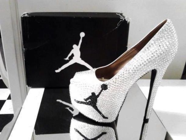 shoes heels white black dope jordans high heels cute cute high heels peep  toe 23 black 55ce9a578b